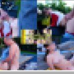 【クレアジ 01051】庭先にて大きな黒縁のメガネっ娘が嬉しそうに巨大過ぎるチンポを頬張ったりテーブルの上でハメられたりする海外野外ファック! 洋物 フェラ crazyasia01051