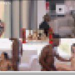 [モ無]<Vol.01304>コントラスト最高のアナル乱交を目撃!!!黒人男2人、白人女1人の黒白黒の華麗なる乱交動画♪美しいパイパンマ◯コを自分で慰めながらのアナルセックスに興奮必至だwww 洋物 PEWORLD01304